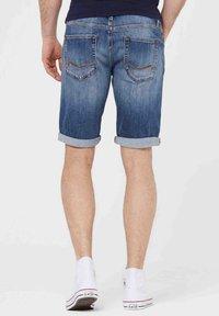 Harlem Soul - HARLEM  - Denim shorts - blue used - 2