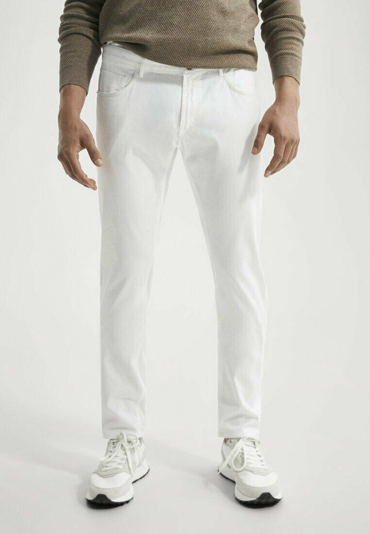 Massimo Dutti - Slim fit jeans - white