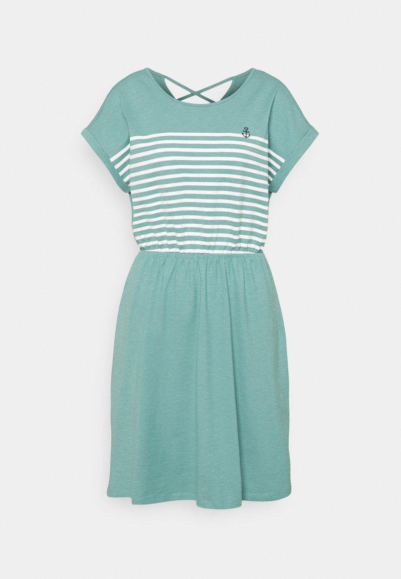 TOM TAILOR DENIM - MINI  DRESS - Jersey dress - mineral stone blue