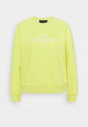 ORIGINAL CREW - Sweatshirt - citrine