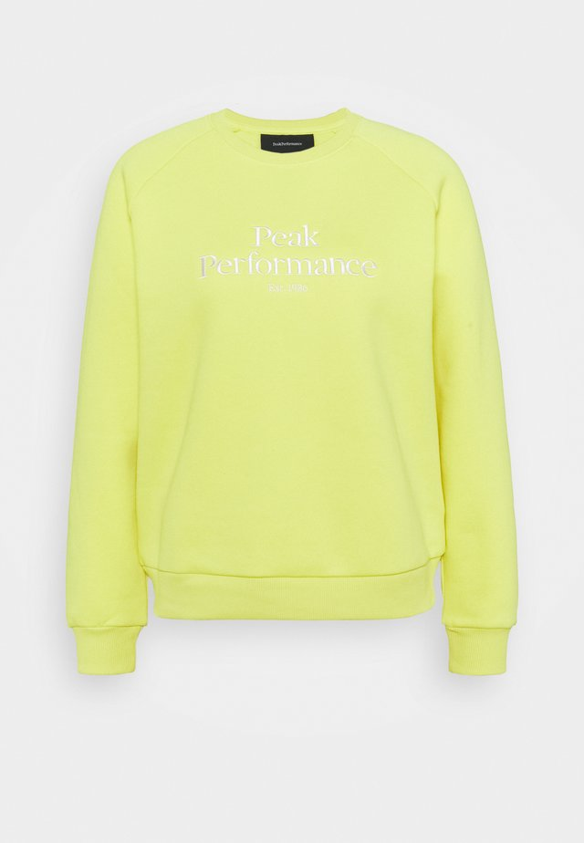 ORIGINAL CREW - Sweatshirt - citrine