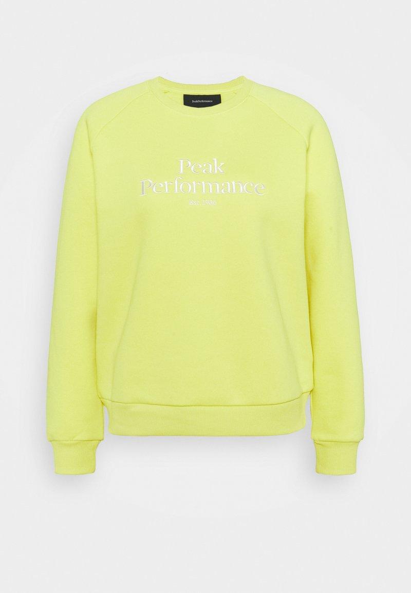 Peak Performance - ORIGINAL CREW - Sweatshirt - citrine