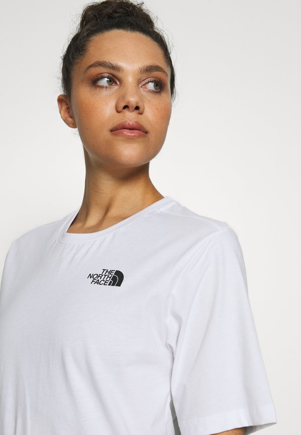 The North Face SIMPLE DOME - T-shirt basic - white Kolor jednolity Odzież Damska VWCV LJ 8