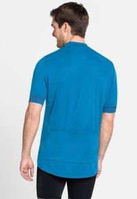 ODLO - STAND UP COLLAR ZIP ESSENTIAL - T-Shirt print - blue aster (21900) - 1