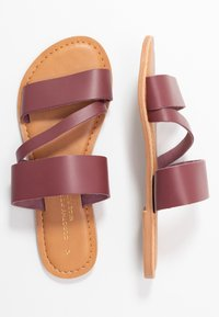 Dorothy Perkins Wide Fit - WIDE FIT ASYMMETRIC TRIPLE STRAP  - Pantofle - burgundy - 3
