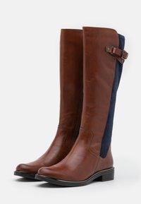 Caprice - Boots - cognac/ocean - 2
