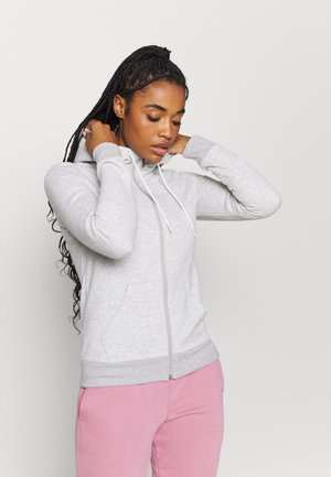 MODERN BASICS FULL ZIP HOODIE  - Collegetakki - light gray heather