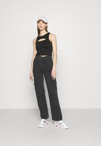 Weekday - ABEL TROUSERS - Straight leg jeans - washed black - 1