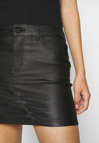 ONLY - ONLROSIE SKIRT - Leather skirt - black - 3