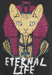 Kaotiko - ETERNAL LIFE SPHYNX - Print T-shirt - black - 2