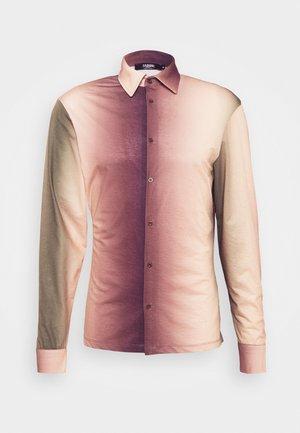 OMBRE SHIRT - Shirt - brown/green/white/light brown