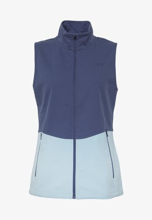 SOFT SHELL VEST - Waistcoat - blue ink/blue frost