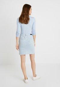 edc by Esprit - STRIPE  - Pencil skirt - blue light wash - 2