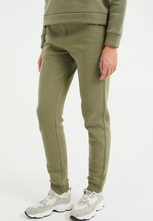 Tracksuit bottoms - olive green
