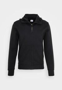 C.P. Company - HOODED OPEN DIAGONAL - veste en sweat zippée - black - 4