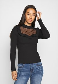 ONLY - ONLSOPHIA FLOUNCE - Long sleeved top - black - 0