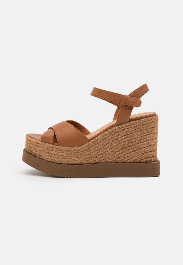 CAUCA - Højhælede sandaletter / Højhælede sandaler - tan