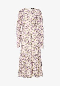 Missguided Tall - PUFF SLEEVE RUFFLE HEM MIDI SMOCK DRESS FLORAL - Day dress - cream - 0