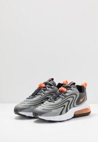 Nike Sportswear - AIR MAX 270 REACT - Sneakers - iron grey/total orange/particle grey/black/white - 2