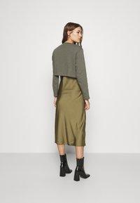 AllSaints - BENNO TEE DRESS SET - Long sleeved top - pale olive - 2