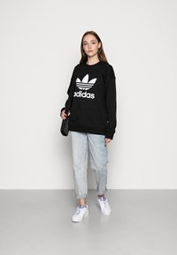 adidas Originals - ADICOLOR TREFOIL LONG SLEEVE - Mikina - black/white - 1