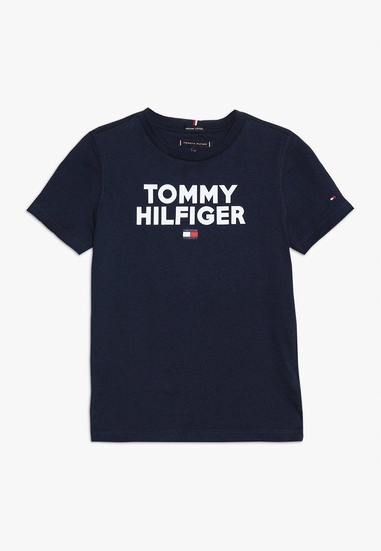 Tommy Hilfiger - LOGO TEE  - Camiseta estampada - blue