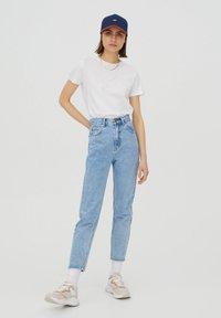 PULL&BEAR - 2 PACK - T-shirt basic - white - 0