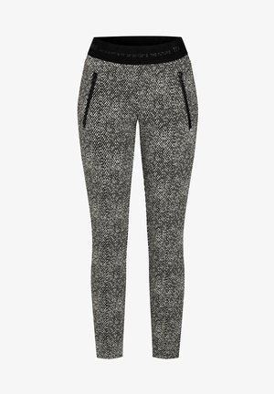RANEE - Trousers - black/white fancy tweed