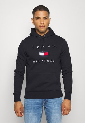 FLAG HOODY - Sweat à capuche - blue