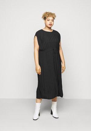 DRESS PLEATED LOVE - Vapaa-ajan mekko - black