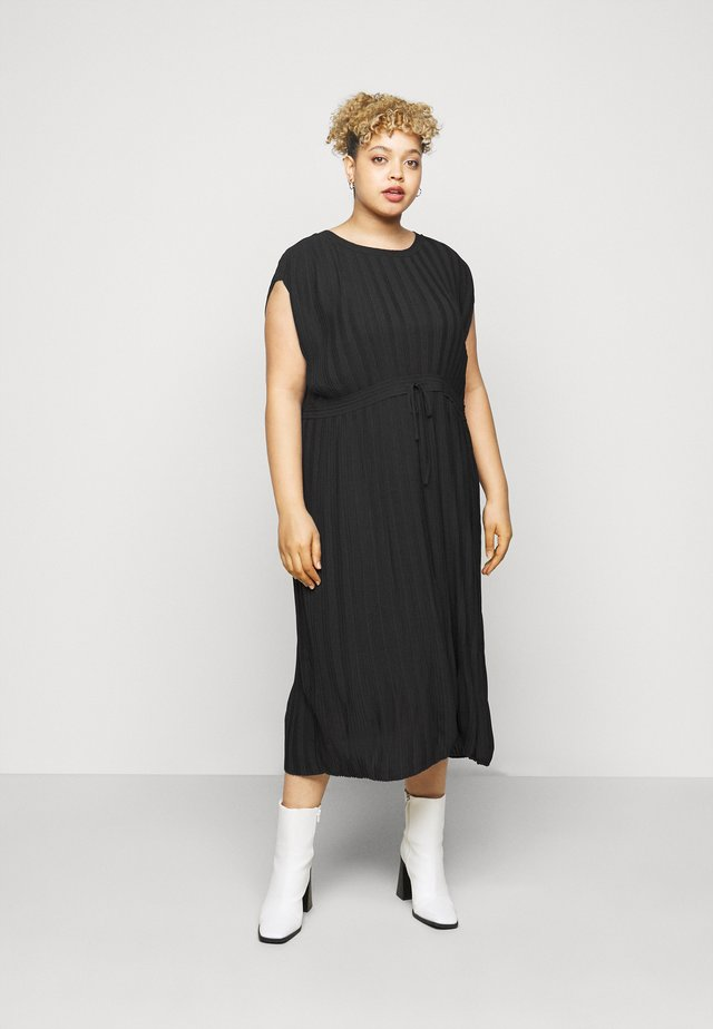 DRESS PLEATED LOVE - Hverdagskjoler - black