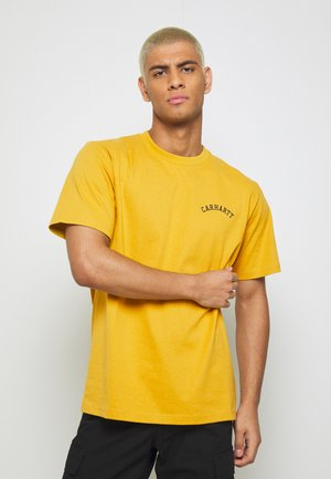 UNIVERSITY SCRIPT  - Basic T-shirt - colza/black