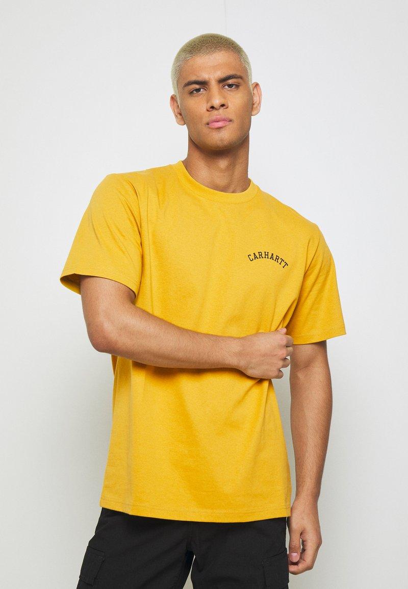 Carhartt WIP - UNIVERSITY SCRIPT  - Basic T-shirt - colza/black