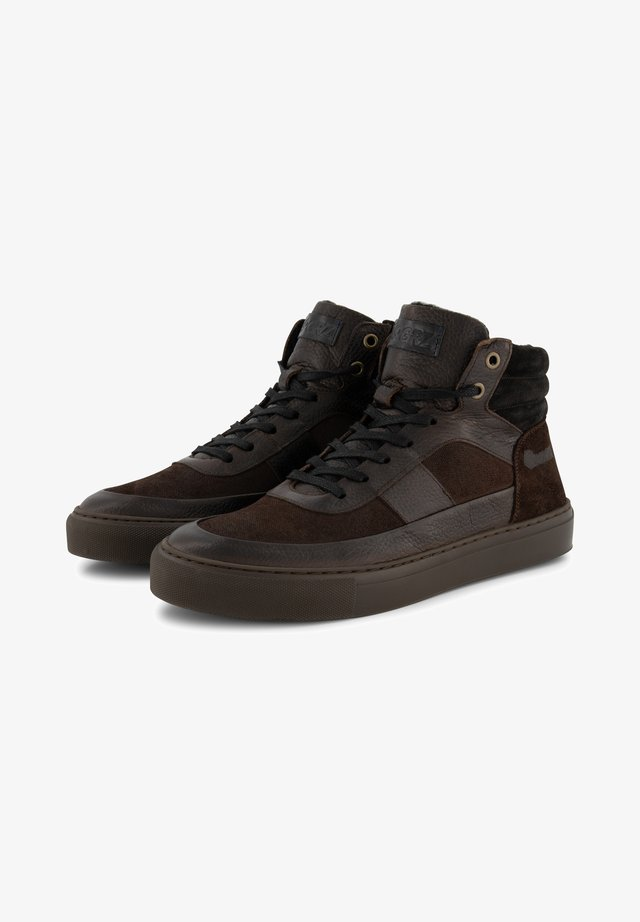 A.RIMALDI - Sneakers hoog - dark brown