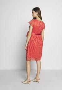 Esprit Maternity - DRESS - Cocktail dress / Party dress - coral - 2