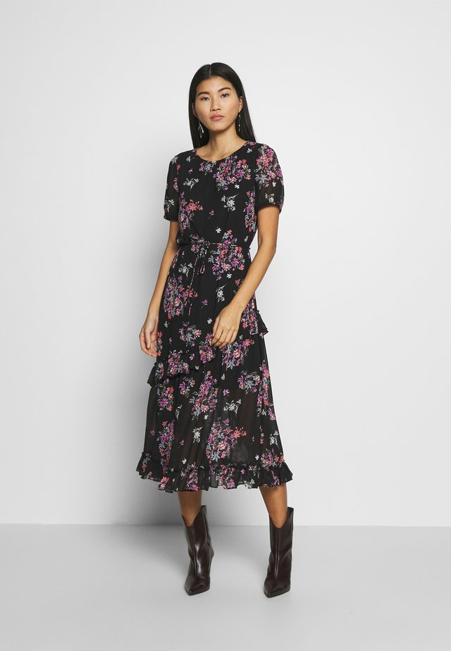 DITSY FRILL MIDI - Day dress - black