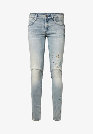 G-STAR JACKPANT 3D MID SKINNY WMN VINTAGE LT AGED PAINTED WOMEN - Jeans Skinny Fit - vintage lt aged painted