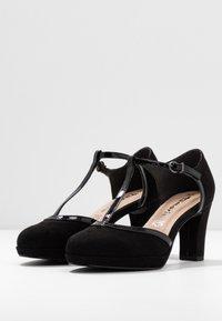 Tamaris - WOMS SLIP-ON - Platform heels - black - 4