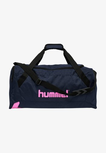 HMLACTION - Sports bag - black iris sugar plum