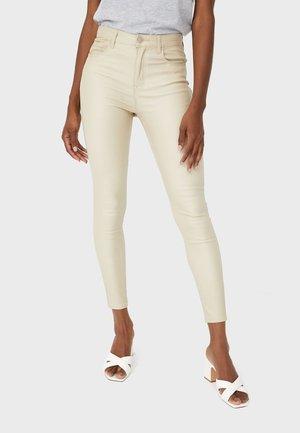 MIT HOHEM BUND - Kalhoty - beige