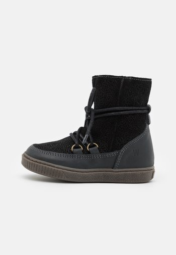 KAYA LACE TEX BOOTIE - Winter boots - black