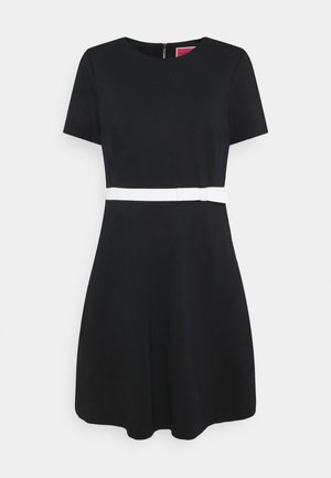 BOW WAIST PONTE DRESS - Day dress - black