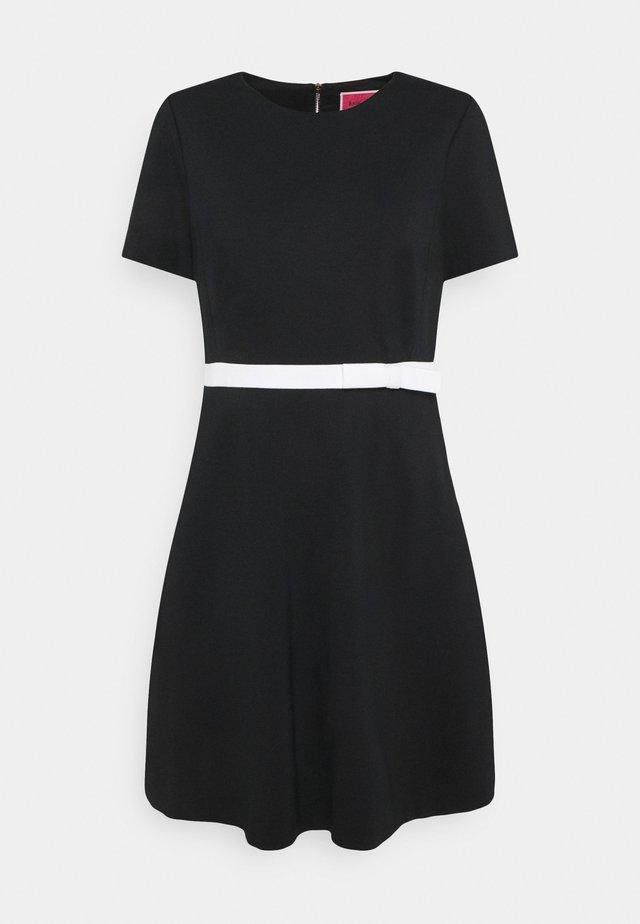 BOW WAIST PONTE DRESS - Day dress - black