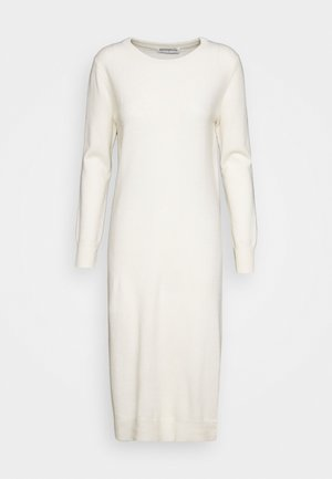 CREW NECK DRESS - Vestido de punto - ivory