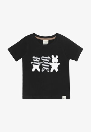 BESTIES APPLIQUE - Print T-shirt - black
