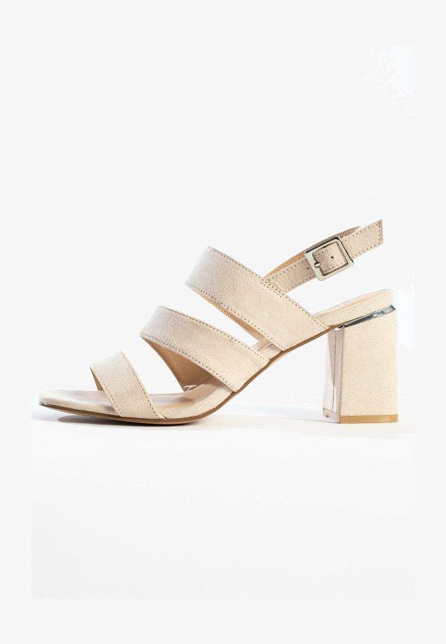 CHARIS - Sandalen met hoge hak - nude
