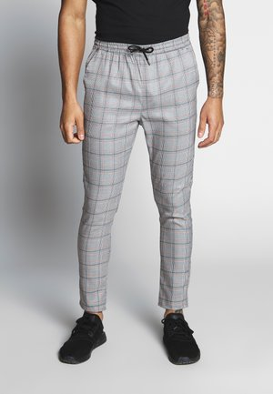 DECLAN - Pantalon classique - grey/orange