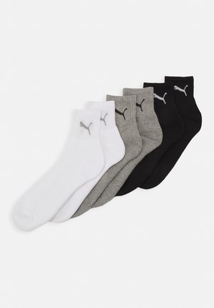 SHORT CREW UNISEX 6 PACK - Sports socks - grey/white/black