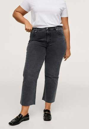 Flared Jeans - open grijs