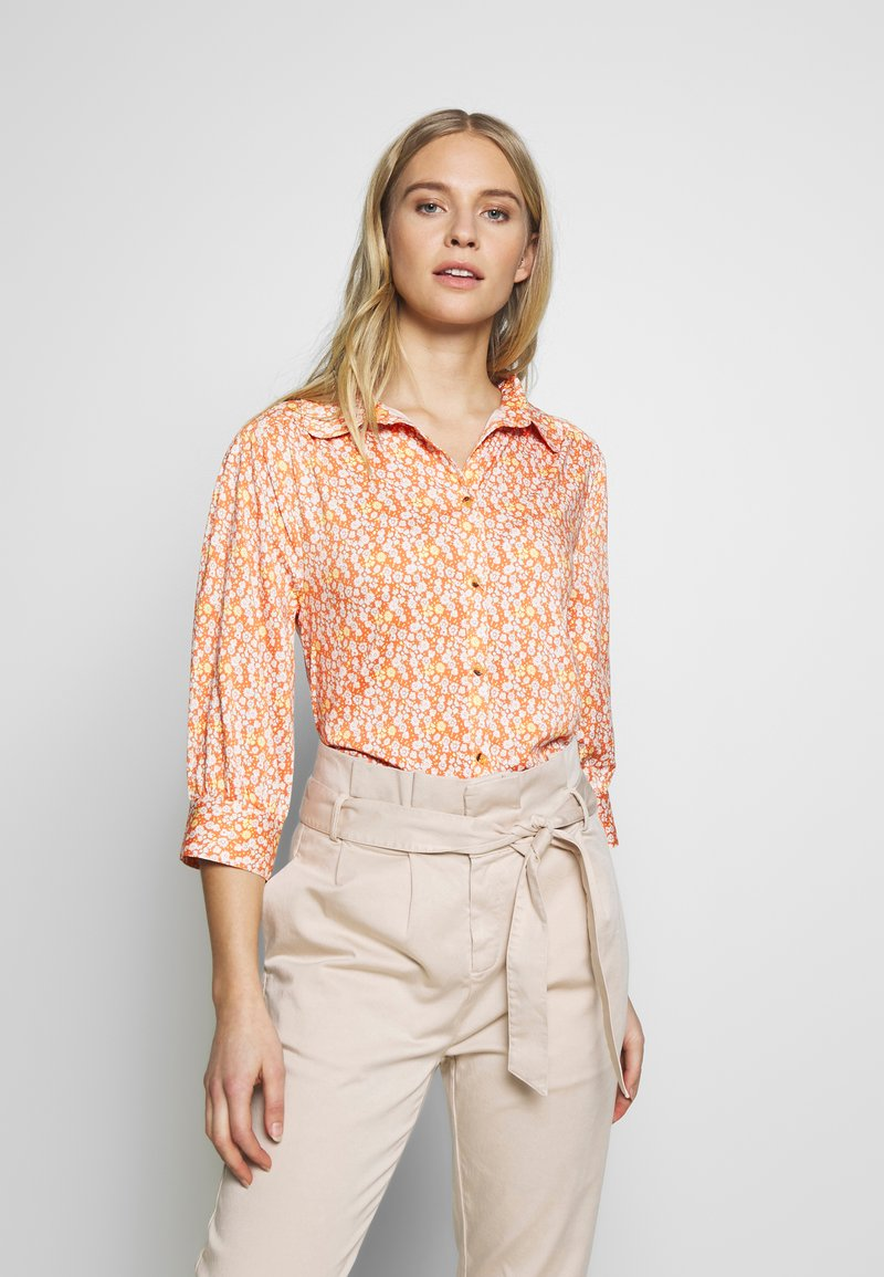 esmé studios - ZOEY BLOUSE - Button-down blouse - carnelian